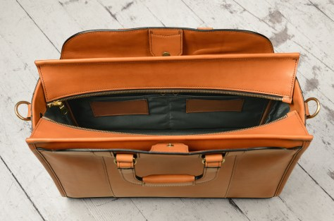 Hand-burnished-chestnut-Day-Tote;-17-x-12-x-6'-topdown2