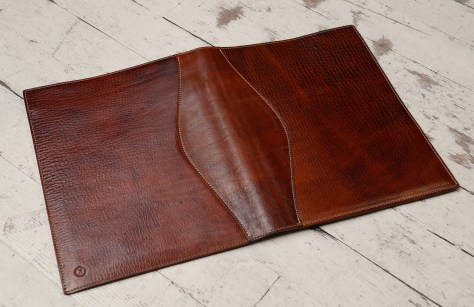 Hand-grained,-hand-colored-sienna-all-leather-Writing-Pad-back
