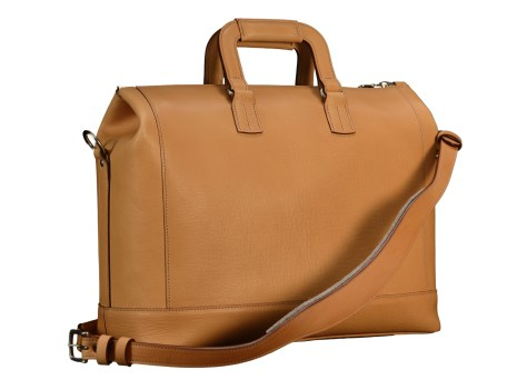 Natural-leather-Club-Bag-with-California-blue-lining-and-square-handles;-16-x-9.5-x-6-back