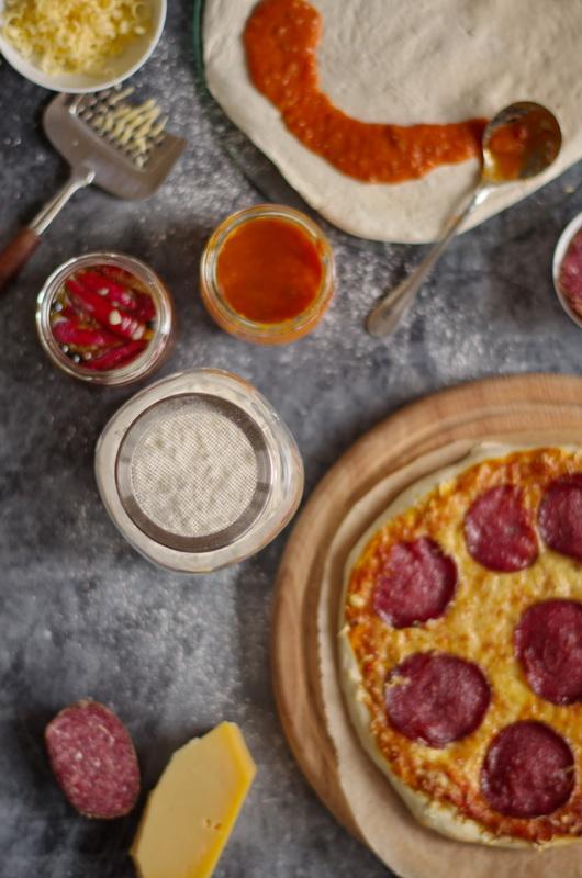 TK Pizza roh und gebacken