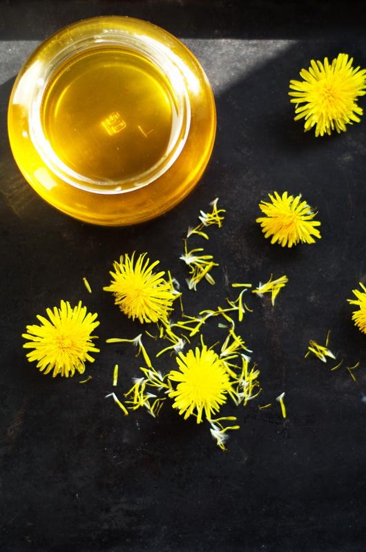 Löwenzahnblüten Honig- die Blüten