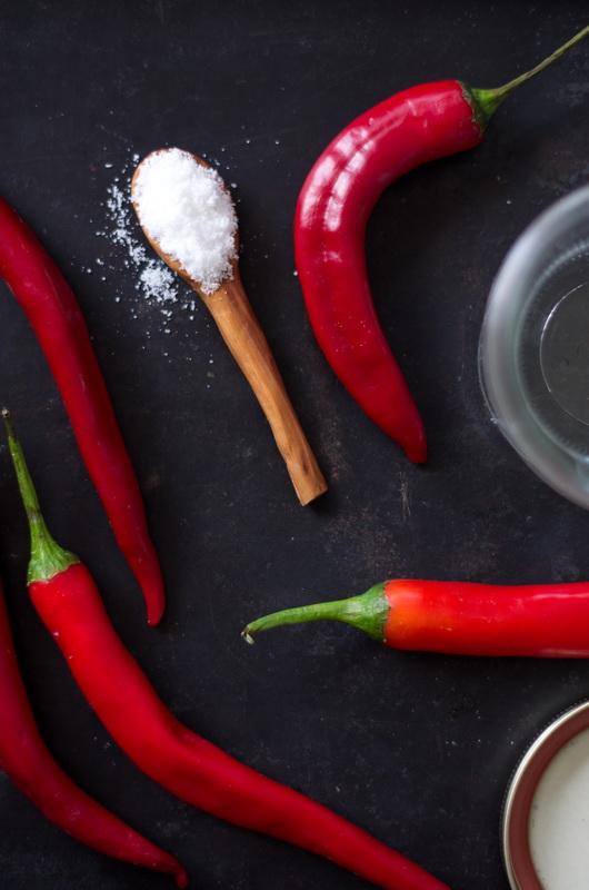 so wenig Zutaten für die fermentierte Chilisauce