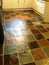 Slate Tiles Cleaned and Sealed in a Glasgow Kitchen ...
