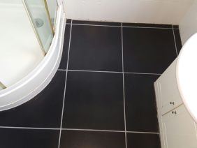 Bathroom Floor Paisley After Grout Colouring