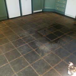 Slate Kitchen Floor Metal Island Stone Cleaning And Polishing Tips For Floors During In Lochwinnoch