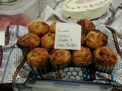 goats cheese and onion muffins