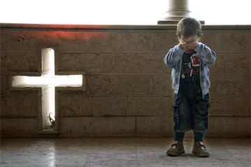 A Syrian Christian refugee (UNHCR)