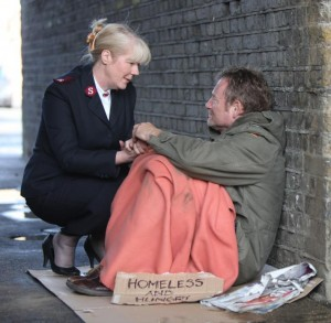 Salvation Army in action on the street