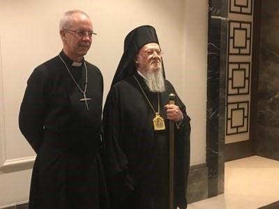Archbishop of Canterbury Justin Welby and Ecumenical Patriarch Bartholomew. ©Fulata Lusungu Moyo/WCC