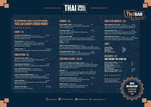 Tiki bar and kitsch inn Glasgow new menu