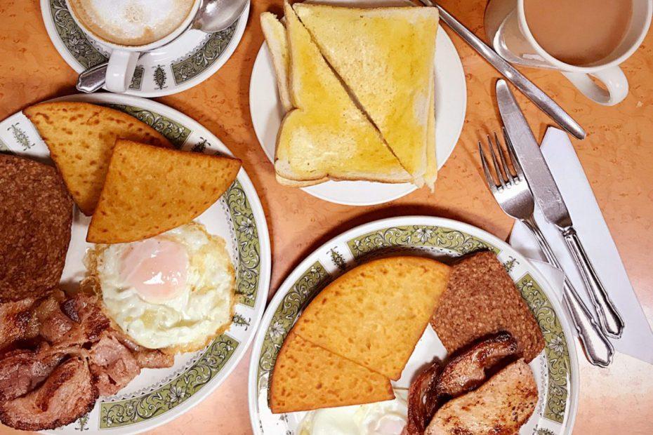 Central cafe Barrhead full breakfast
