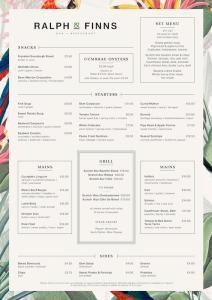 ralph and finns glasgow menu