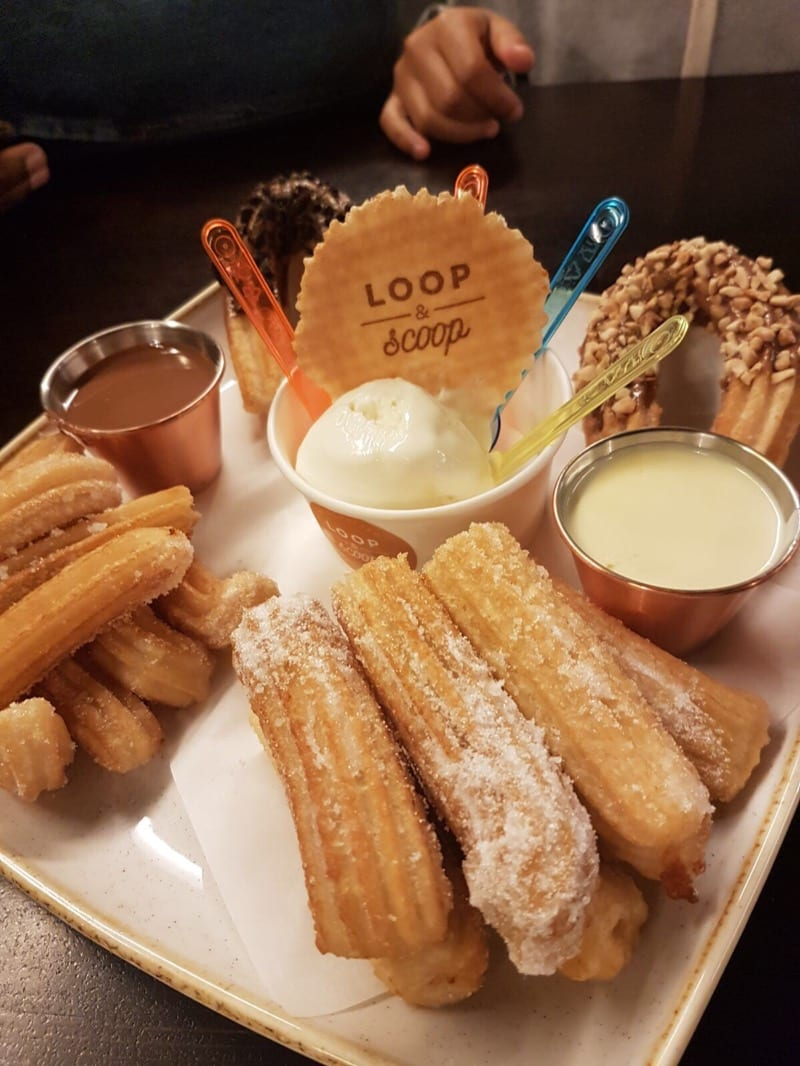Loop and scoop ice cream churros Glasgow