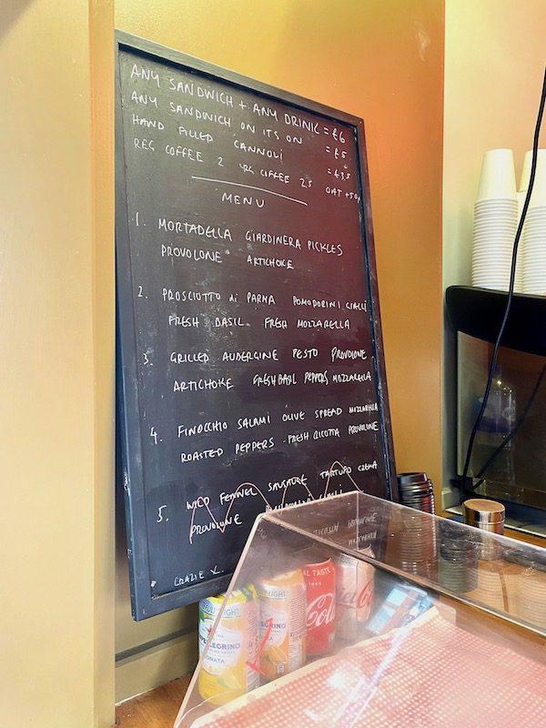 focacceria glasgow menu
