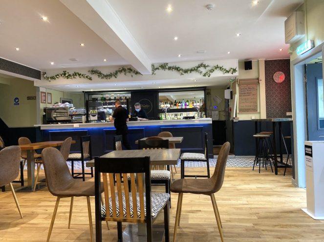 inside frankies cafe bar barrhead