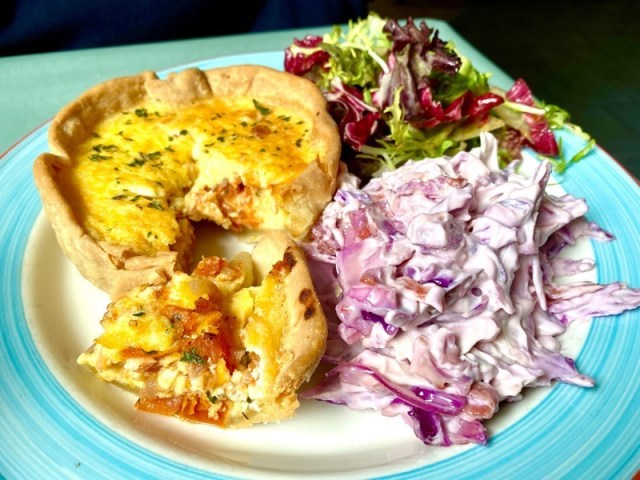 the boathouse rouken glen quiche of the day
