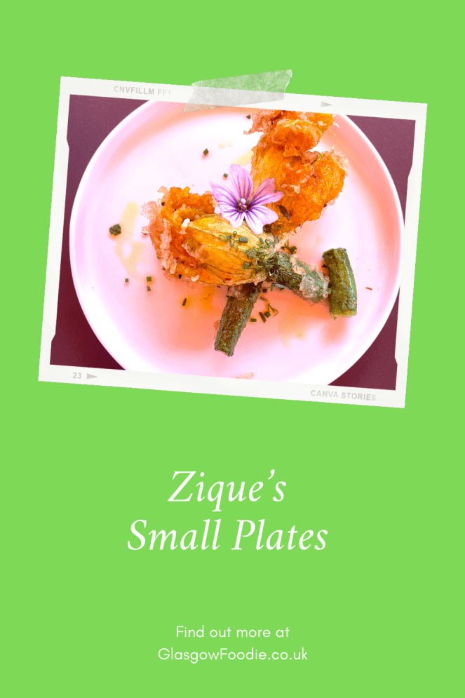 Small plates at Zique's Pinterest pin