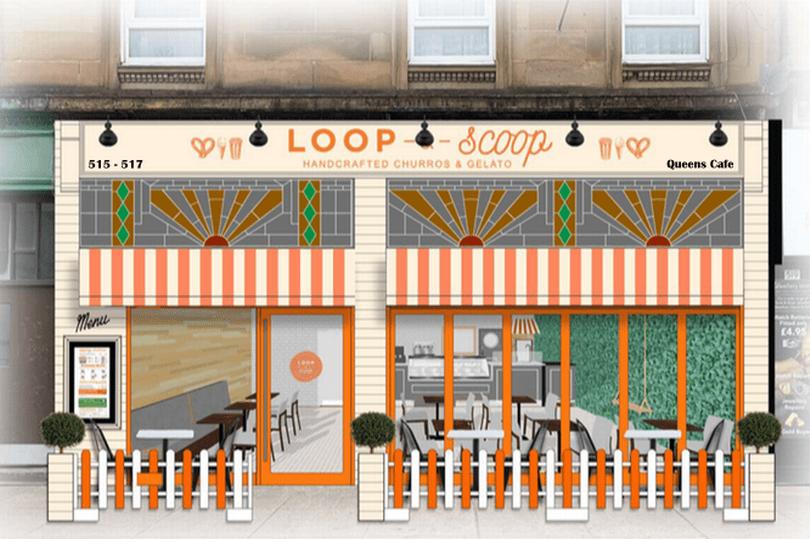 loop and scoop queens cafe glasgow