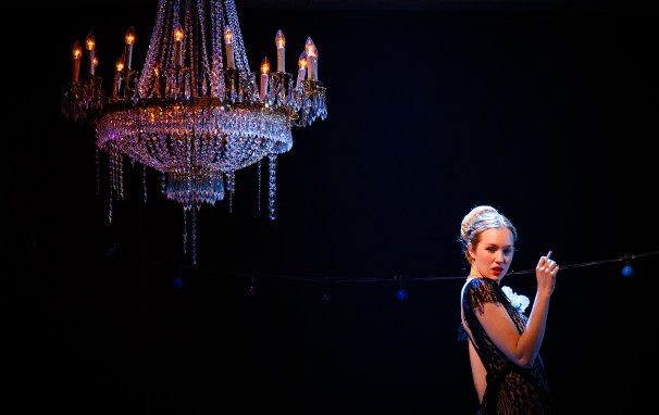 Imogen Sage as Mrs de Winter in REBECCA photo by Steve Tanner