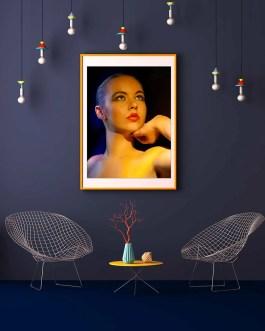 Blonde Frau Portrait 3