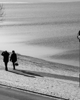 Winterlandschaft, Hopfen am See 2 SW