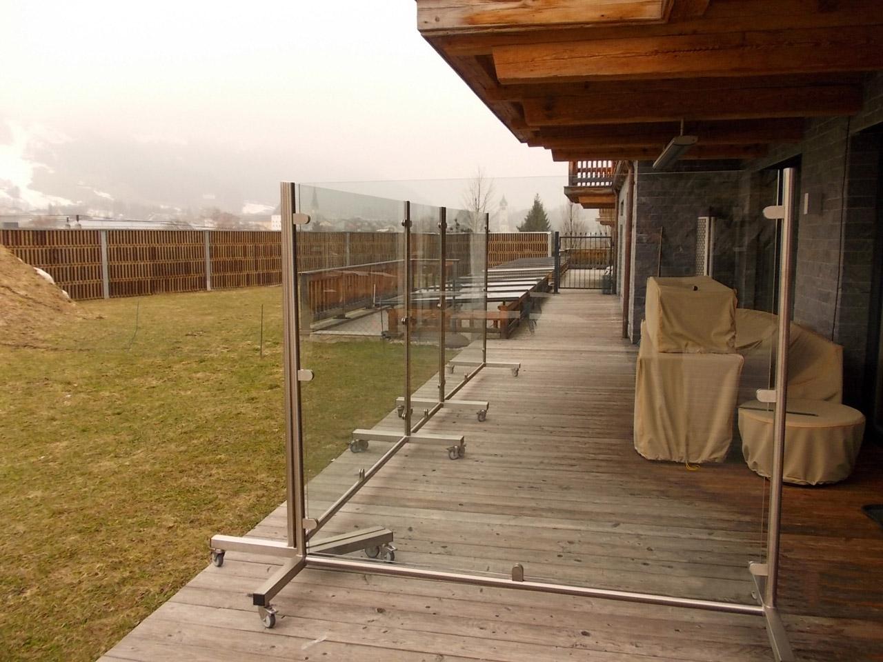 Sichtschutz Fuer Terrasse Pflanzkubel Hoch Kunststoff Anthrazit