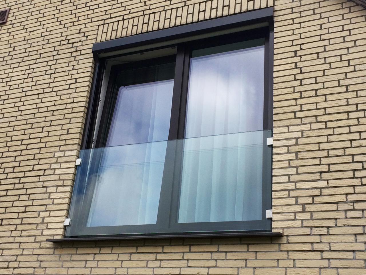 franz sischer balkon glas in laibung tisch balkongel nder. Black Bedroom Furniture Sets. Home Design Ideas