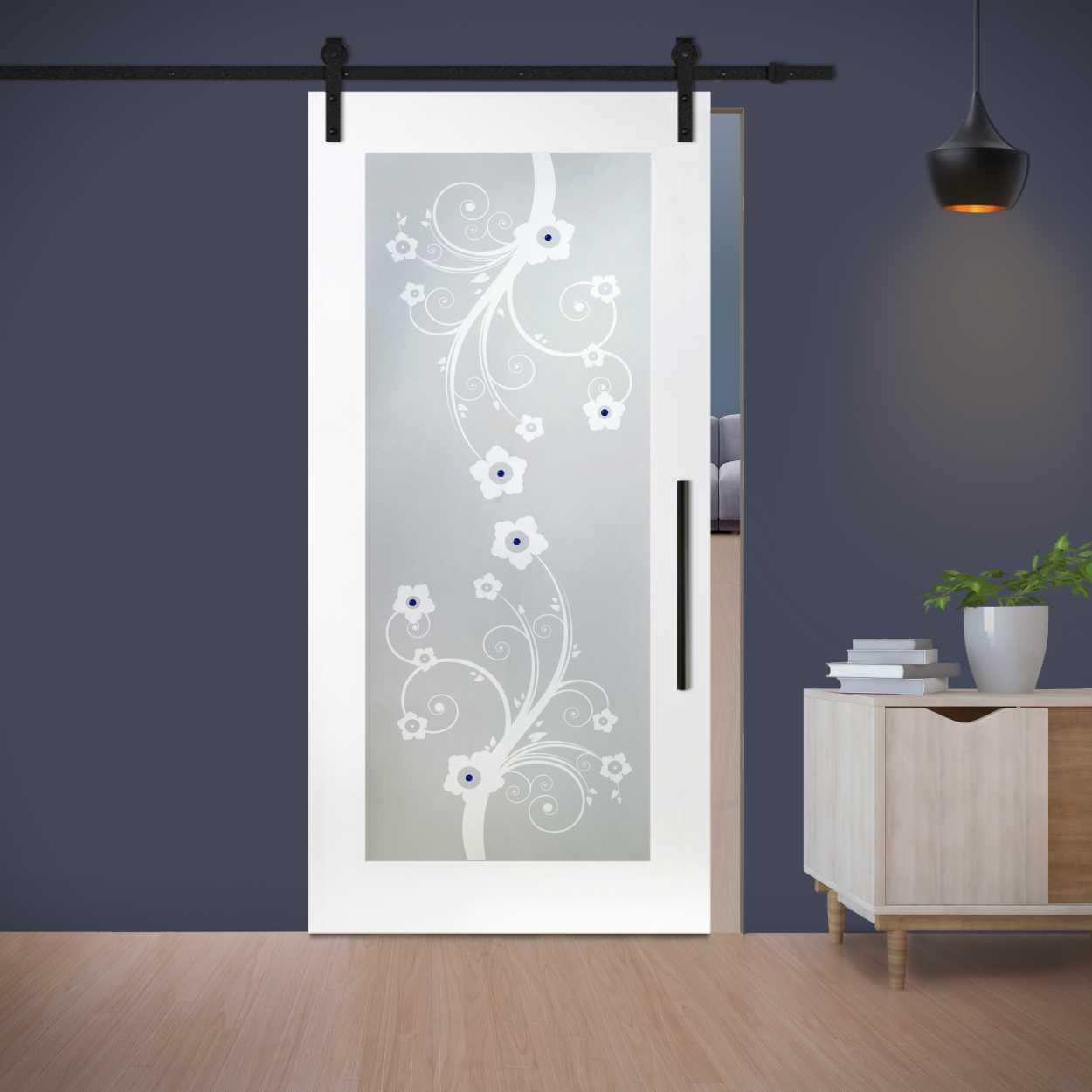1 lite mr mdf sliding door with glass insert wgd 0006