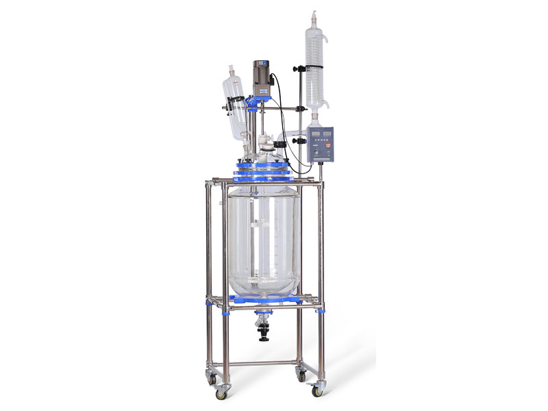 Specific application of jacketed glass reactor vessel