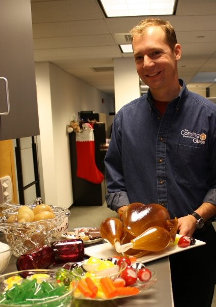 Erik Meek and his turkey