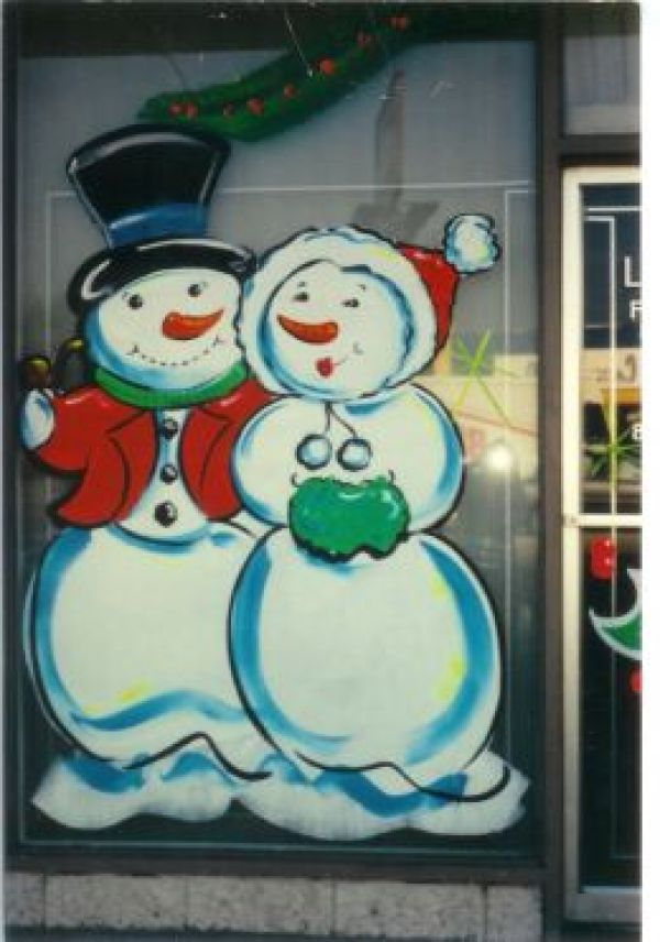6 holiday painted window art glass art for Christmas glass painting designs