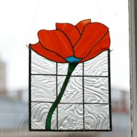 DIY Stained Glass Flower Wall Panel