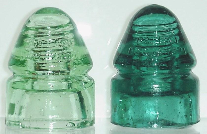 Electrictiy Glass Insulators Wedding Gift Dominion Insulator 40s Industrail Art Vintage Glass Glass Art, Hemingray Insulators 50/'s