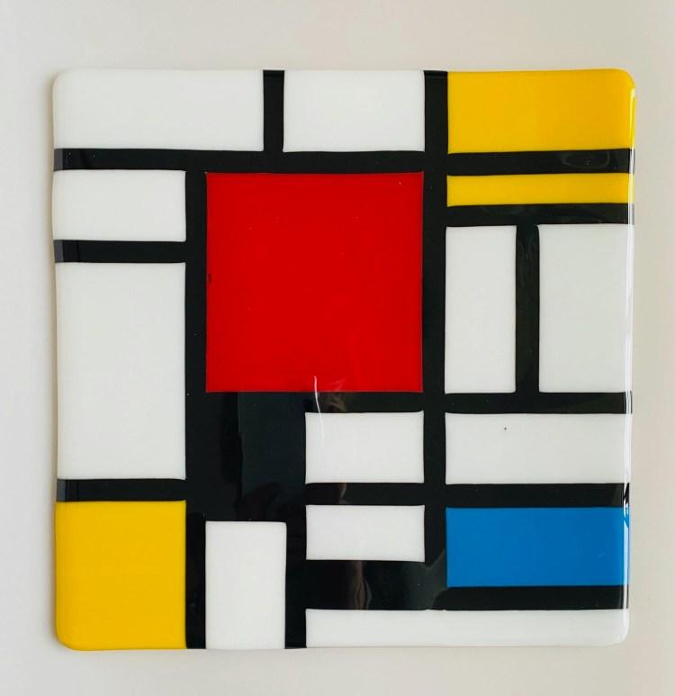 Glass By Tina 'Mondrian' style splashback