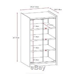 Audio Component Stand Video TV Media Stereo Cabinet Glass