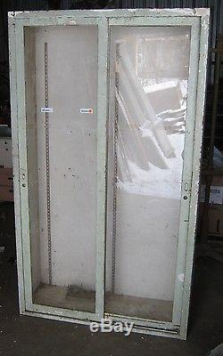 Vintage Industrial Metal Medical Storage Cabinet Display
