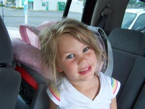 Kacee right before her third birthday.