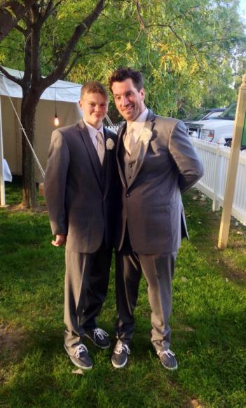 Best Man/Son... Brady and I (Photo by Jennifer Archer)