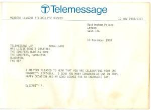 queen's telegram