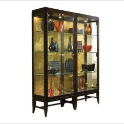 Living Room Glass Display Cabinets Ideas With Black Leather Furniture Curio Cabinet