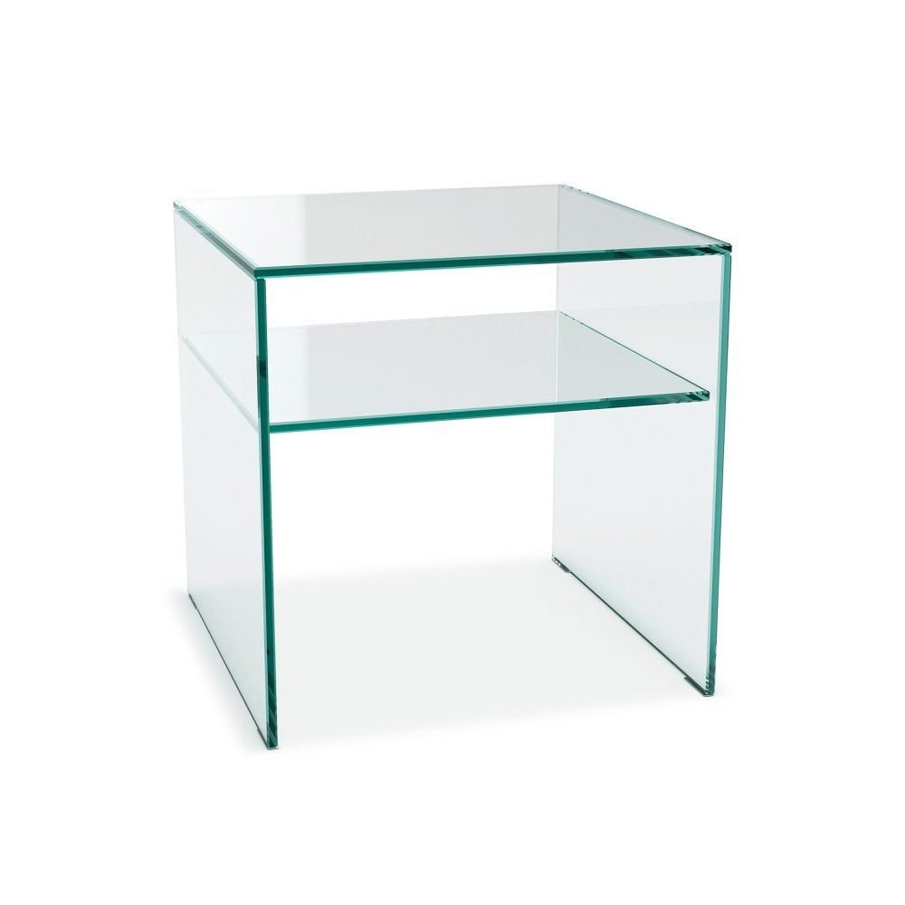glassdomain crystal bedside table 1 shelf