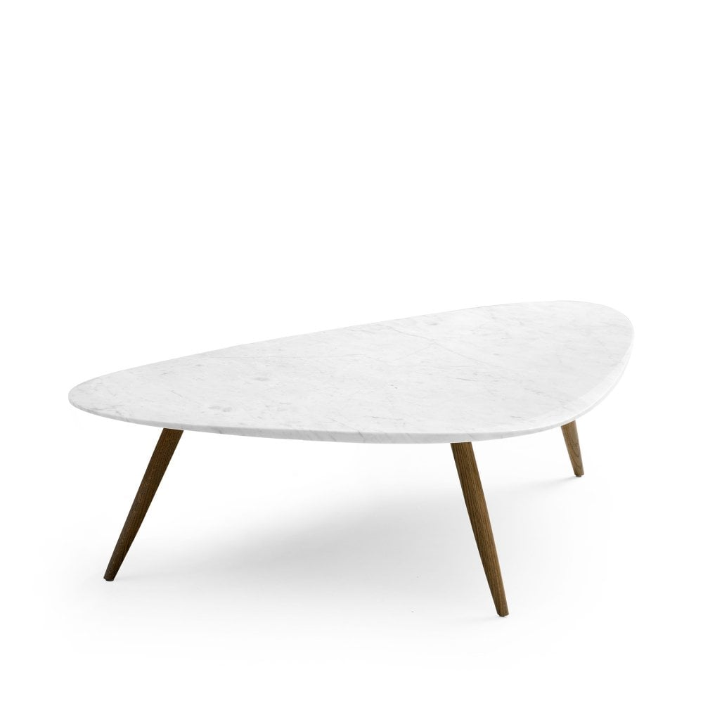 leolux large iduna coffee table bianco carrara marble