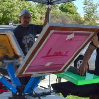 Erentreich Printing brought live screen-printing