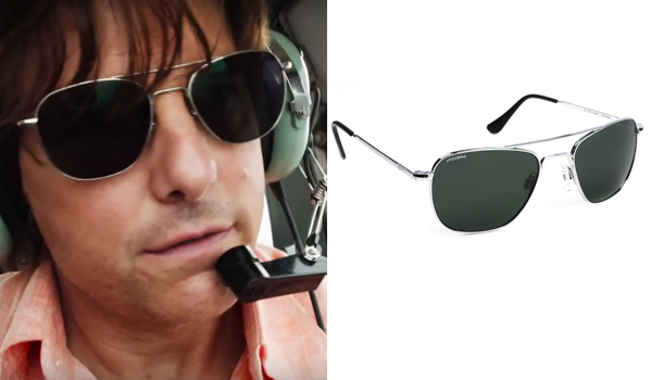 7bce9e79af Barry Seal Sunglasses. The sunglasses that Barry Seal (Tom Cruise) wears in American  Made are Randolph Engineering Aviators ...