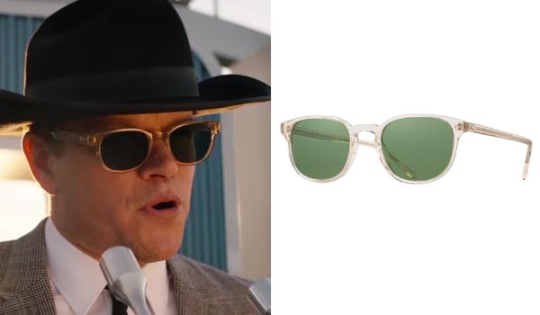 Caroll Shelby sunglasses in Ford v Ferrari