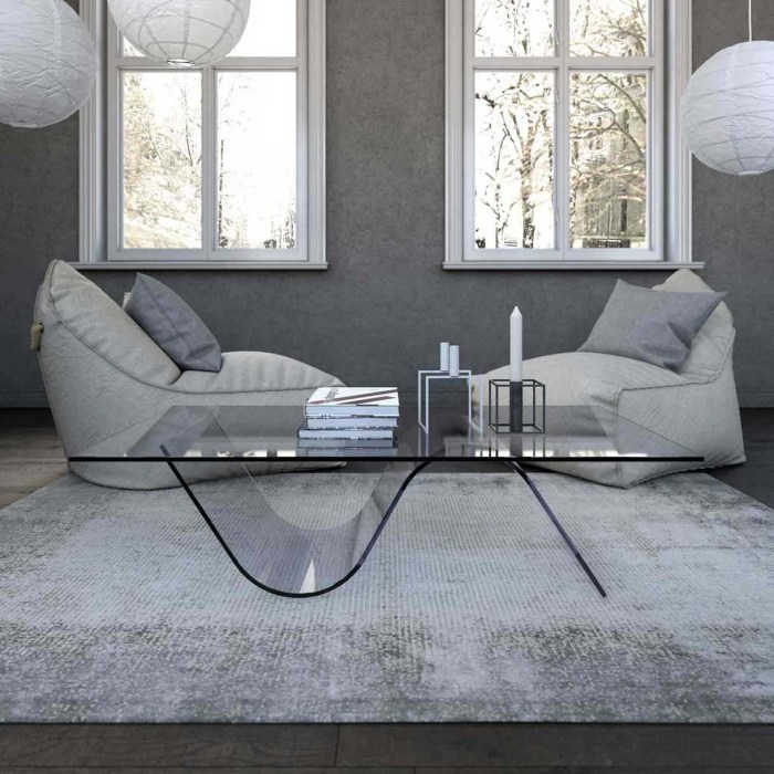 onda glass coffee table