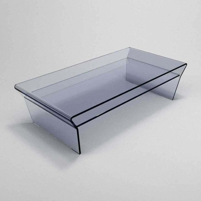 Curved glass table - Seven