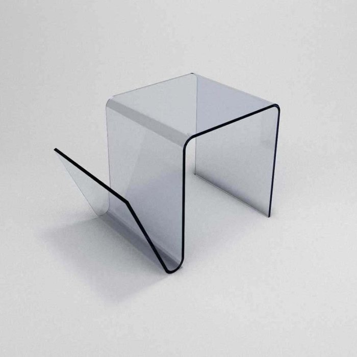 curved glass side table priviste