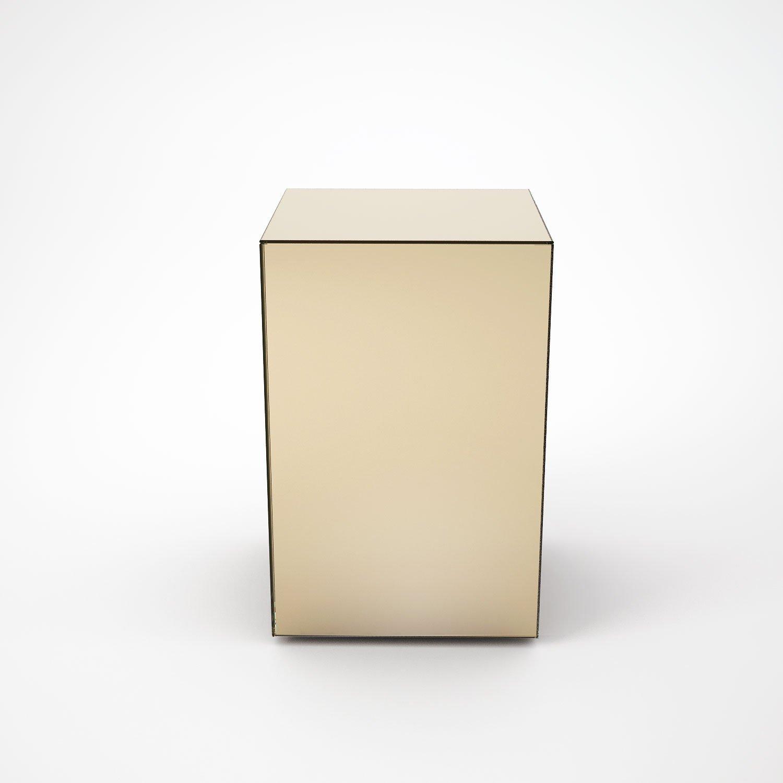 Klarity / Glass Furniture Shop / Glass Coffee Table / Mirrored Coffee Tables  / Bronze Mirrored Side Table By MirrorBox