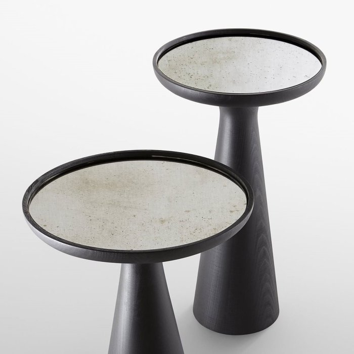 Fante Glass and Wood Coffee table by Gallotti & Radice